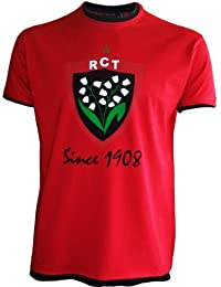T-shirt RCT Toulon - Collection officielle Rugby Club Toulonnais - Top 14 - Ligne Ville - Taille Adulte Homme