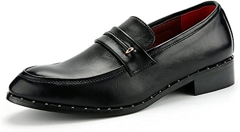 Xujw shoes  2018 Schuhe Herren  Herren Oxfords Flache Ferse weisshen PU Leder Slip auf Business Schuhe (Farbe :