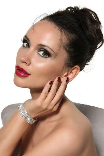 Arunta® Funkelndes elastisches Collier Armband mit Strass