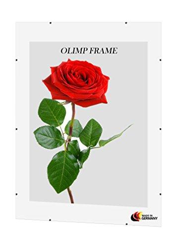 Olimp Cornice a Giorno con Vetro Antiriflesso 80 cm x 100 cm in Horizontal or Vertical Format
