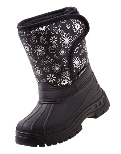 Rugged Bear Girls Snowflake Print Snow Boots, Kids
