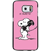 Unique Design Snoopy Phone caso Cover for Funda Samsung Galaxy S6 Edge Plus Snoopy Cartoon Design