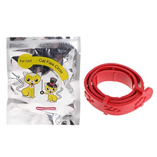 Fogun Zecken- und Flohschutzband für Katzen und Hunde Rot (Katze)