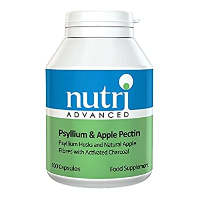 Psyllium & Apple Pectin - 100 Capsules by Nutri Advanced - with Activated Charcoal by Nutri Advanced