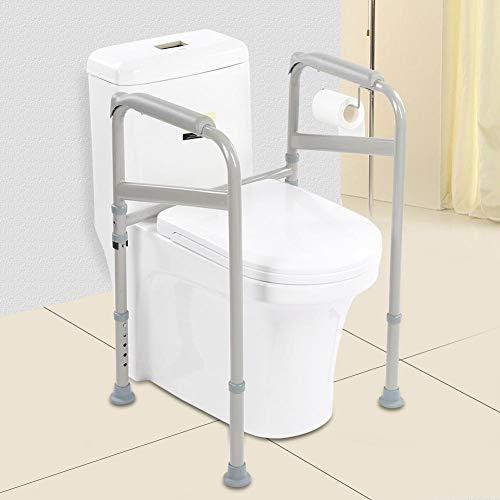 Toilettengestell, verstellbarer WC-Aufstehhilfe Toilettenstützgestell Mobile Sicherheitsgestelle für Toiletten, 52 * 40 * 65-86cm