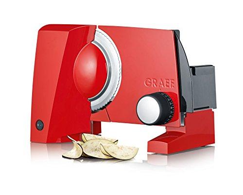 Graef S10003 Allesschneider, Aluminium, Rot