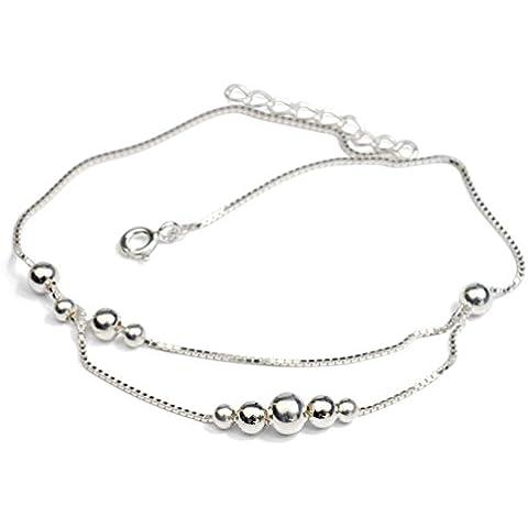ZWX donna d'argento catena/Moda coreana doppia catena d'argento