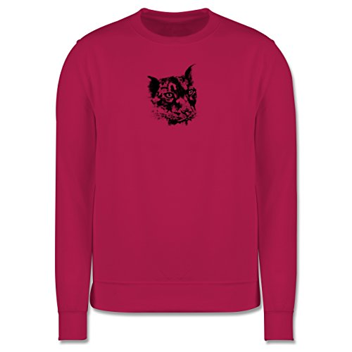 Wildnis - Gepard - Herren Premium Pullover Fuchsia
