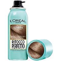 L'Oréal Paris Ritocco Perfetto Spray Ritocco Radici, Colorazione Temporanea Ricrescita, Copre i Capelli Bianchi e Dura 1 Shampoo, 3 Castano, 75 ml