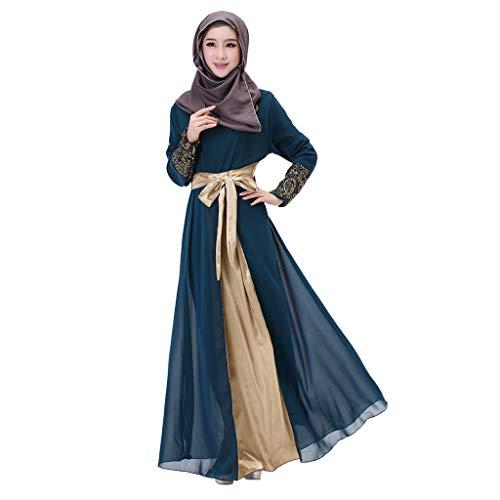 d036e670dd1 Qu-Hsrkocb Mujeres Vestido Islámico Abaya con Hijab Jilbab Vestimenta  islámica Maxi Vestido Burqa Musulmán