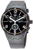Swatch Herren Analog Quarz Uhr mit Silikon Armband SUSM405
