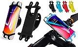 Hino Fahrradhalterung für Smartphones mit 10,2 cm bis 15,2 cm (4 Zoll) bis 15,2 cm (6 Zoll) Bildschirmdiagonale Kompatibel mit Straßen- und Mountainbikes, sowie Motorrädern und Rollern