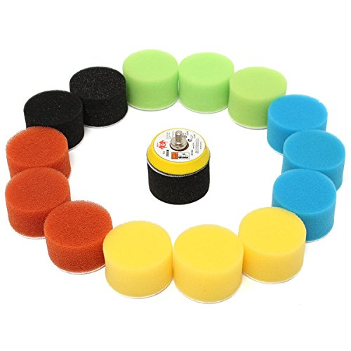 ExcLent 16Pcs 2 Inch 50Mm Polishing Buffing Pad Kit For Car Polisher
