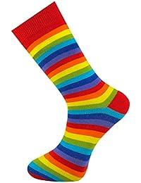 Mysocks® Hombres y mujeres color arco iris peinado calcetines de algodón