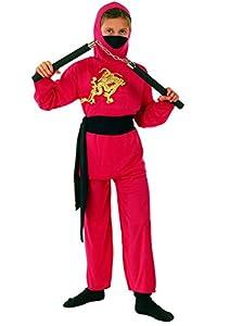 FIORI PAOLO-Red Ninja disfraz niño L (7-9 anni) rojo