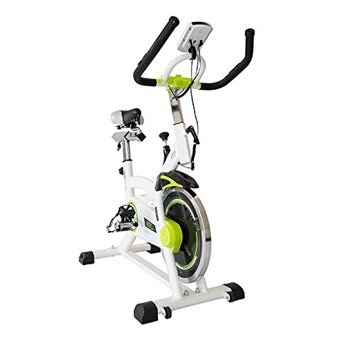 Eurowebb Bicicleta Estática con Monitor de Ritmo cardiaque- Sport Fitness Pérdida de Peso Adelgazamiento Musculación