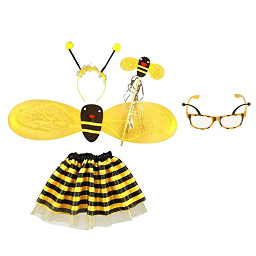 Sharplace 5 Stü Bumble Bee Honig Mädchen Kinder Fee Halloween Dress Up Party Kostüm