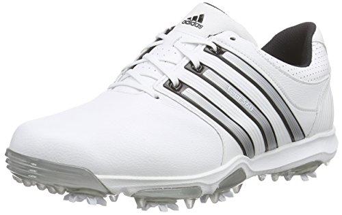 adidas Tour 360 X WD, Scarpe da Golf Uomo, Bianco (White / Black / Silver Metallic), 45 1/3 EU
