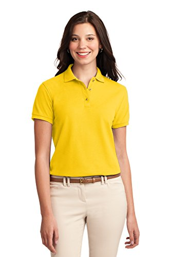 Port Authority Polo (Port Authority® Ladies Silk TouchTM Polo. L500 Sunflower Yellow M)