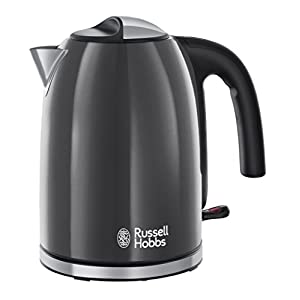 Russell Hobbs Colour Plus Kettle 20414, 3000 W, 1.7 L - Grey