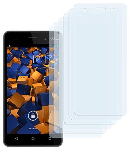 mumbi Schutzfolie kompatibel mit Wiko Lenny 3 Folie klar, Bildschirmschutzfolie (6x)