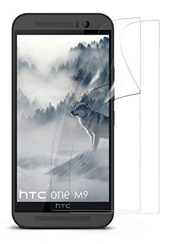 moex 2X HTC One M9 | Schutzfolie Klar Bildschirm Schutz [Crystal-Clear] Screen Protector Display Handy-Folie Dünn Bildschirmschutz-Folie für HTC One M9 Bildschirmfolie