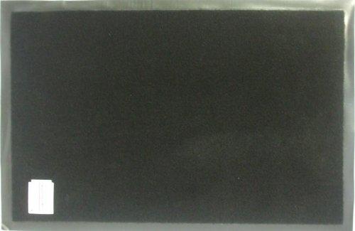 Schmutzfangmatte Sauberlaufmatte Schwarz, Größe Schmutzfangmatten:90x150 cm
