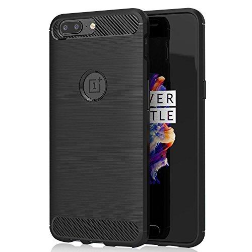 OnePlus 5 Funda KuGi OnePlus 5 Suave Carcasa Silicona Funda Bumper con Absorción de Impactos y Anti-Arañazos Case Cover para OnePlus 5 Smartphone (Negro)