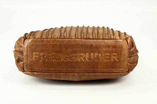 FREDsBRUDER Rookie Ledertasche Schultertasche - Farbauswahl - 38x30x15 (B x H x T) almond