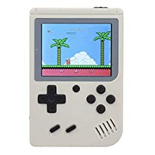 Jaminy 2018 NEW Built-in 500 Retro Games(NO REPEAT) Classic Mini Handheld Video Game Player Game Console Gameboy Gift Present For Children (White)
