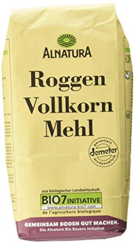 Alnatura Bio Mehl Roggen-Vollkorn, 1.00 kg