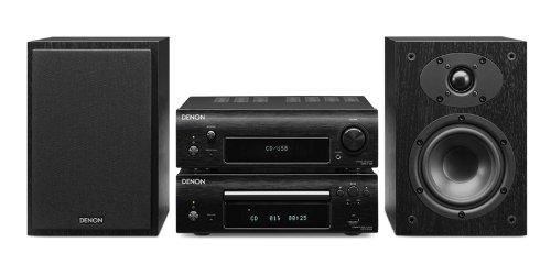 Denon D-F109C Stereo Kompaktanlage (CD, UKW-Tuner, 2x 65 Watt, USB) schwarz/schwarz