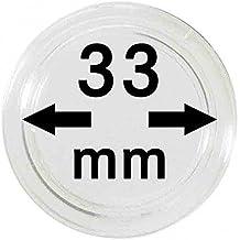 LINDNER Das Original Münzkapseln Innen-Ø 33 mm, 100er-Packung