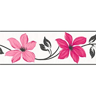 Fine Decor Lily – Cenefa para Pared (173 mm), Color Rosa