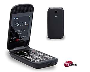 TTfone Venus Senior Basic Mobile Phone Big Buttons Emergency (Black - Virgin Mobile pay as you go)