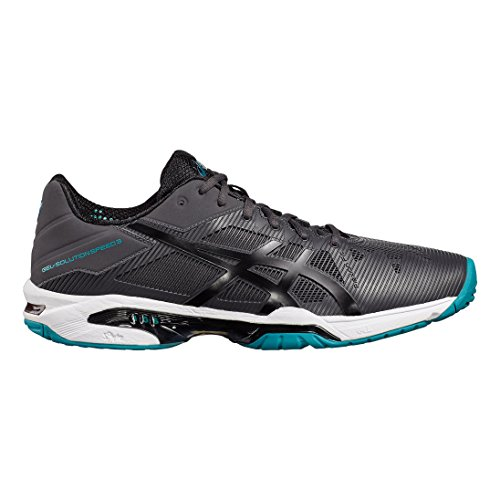 Asics Gel-Solution Speed 3, Chaussures de Tennis Homme, Bleu gris foncé/noir/turquoise