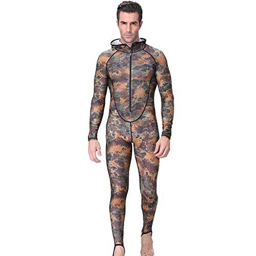 QIMANZI Neuer Taucheranzug Herren Camouflage Camo Neoprenanzug zum Tauchen, Speerfischen und Schwimmen(B Tarnen,4XL)