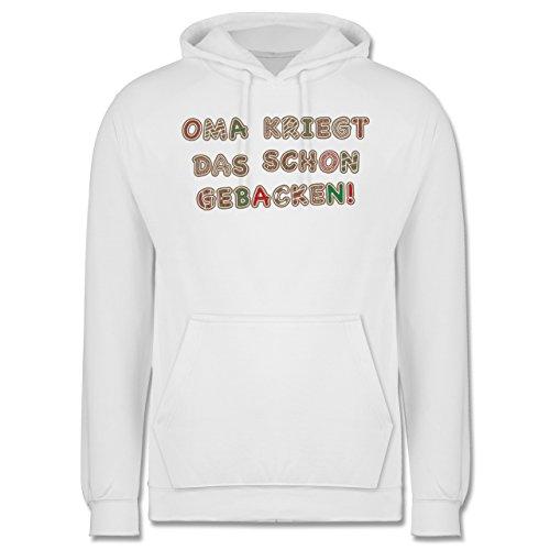 Weihnachten & Silvester - Oma kriegt das schon gebacken! - Männer Premium Kapuzenpullover / Hoodie Weiß