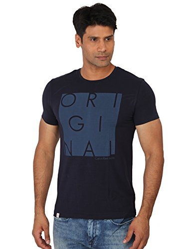 d9ea458a25f Calvin klein ckj-t-shirt-navy-4afk260-402night-m Mens Navy Round T Shirt-  Price in India
