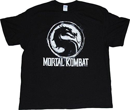 ment Chalk Logo schwarz T-Hemd (Erwachsener Large) (Sonya Mortal Kombat)