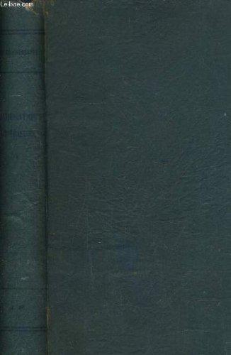 COURS DE MATHEMATIQUES - I ELEMENTS D'ALGEBRE D'ANALYSE ET DE GEOMETRIE ANALYTIQUE.