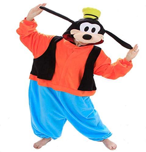 Goofy Kostüm - Onesie Tier Karton Fasching Halloween Kostüm Sleepsuit Cosplay