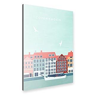 artboxONE Alu-Print 30x20 cm Kopenhagen von Künstler Katinka Reinke