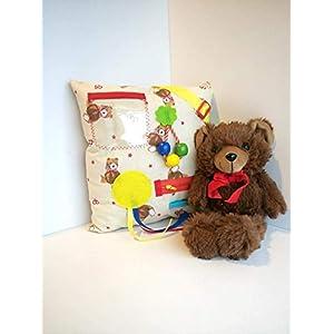 Creme Zappelkissen Teddybären – sensorische Aktivitäten für Senioren