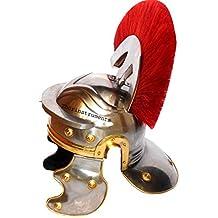 Thor instrumentos. Co centurión romano caballero Medieval casco oficial Armor disfraz rojo penacho
