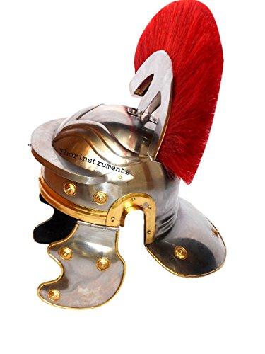 Thor Instrumente. CO Roman Centurion Helm Ritter Mittelalter Officer Armor Kostüm rot - Roman Centurion Armor Kostüm