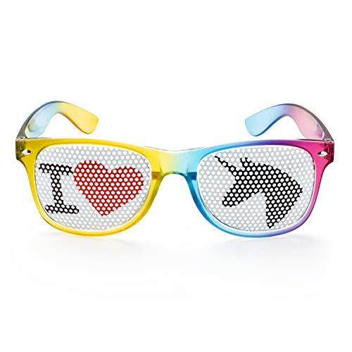 Einhornbrille I Love Einhorn Spaßbrille von seven9,