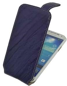 Suncase Premium Flipstyle Ledertasche für das Samsung Galaxy S4 i9505 wash-violett