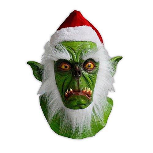 Grinch Kostüme Halloween (Hochwertige Latex-Maske - Der Grinch -)