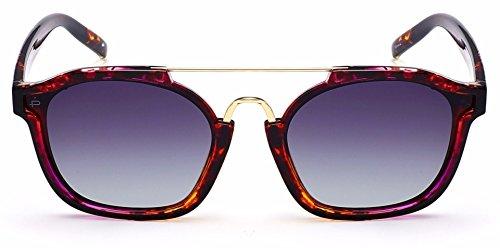 PRIVÉ REVAUX Frau Designer Retro-Quadrat polarisierten Sonnenbrillen Einheitsgröße Schildkröte